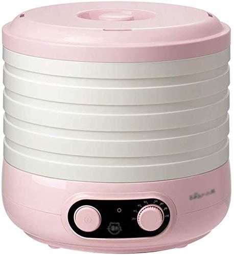 LXDDP Dörrgerät, Speisentrockner Einfaches Einrichten 5 herausnehmbare und stapelbare Trockenschalen BPA-frei Rosa