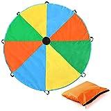 Magicfly 3.5M/ 12Feet Schwungtuch Parachute Fallschirm Spielzeug für Kinder mit Multi-Farben