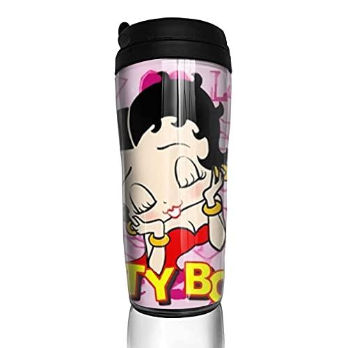 XCNGG Anime B-e-t-ty B-o-o-p Taza de café Vasos portátiles Tazas de viaje Tazas de café aisladas Taza termo para coche de oficina en casa