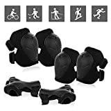 JIM'S STORE Sets De Protection Rollers Enfant Sport Equipement Protection Enfant 6 Pcs Protège-Poignet Coudière Genouillère pour Patinage Vélo Trottinette Roller Skateboard