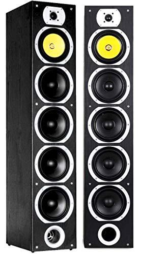 pas cher un bon Fenton SHFT57B paire d'enceintes Hi-Fi 4 voies, 600 W, bass reflex, 20 Hz à 20 kHz, pression sonore 88…