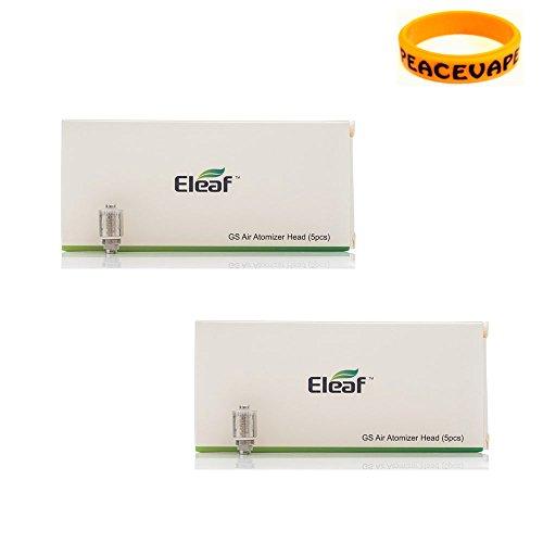 Authentique ELEAF GS Resistance 1,5 Ohm 2 Paquets pour Eleaf GS Air, GS Air 2, iJust Start, iStick Basic Sans Tabac Ni Nicotine Cigarette Electronique avec PEACEVAPE™ Vape Band