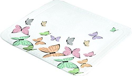 Kleine Wolke Butterflies Duscheinlage PVC Schaum Multicolor 55 x 55 x 3 cm