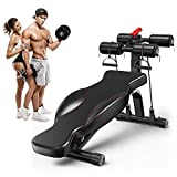 <span class='highlight'><span class='highlight'>Dripex</span></span> Adjustable Weight Bench, Utility Folding Sit Up Board Ab Trainer-14 Positions Incline/Decline Fitness Exercise Bench, Home Gym Equipment for Full Body Workout Strength Training
