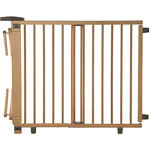 Geuther Montage interne Barrière d'escalier extensible 2732+, bois, 65,5 - 105cm, montage extérieur 58 - 93cm, couleur: nature, approuvé TÜV