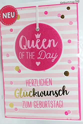 Sheepworld - 90653 - Klappkarte, mit Umschlag, Nr. 44, Filz, Geburtstag, Queen of the Day, Herzlichen Glückwunsch zum Geburtstag!