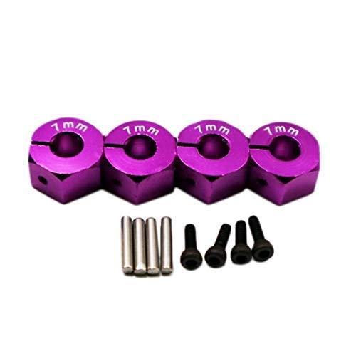 GzxLaY Alloy Hexagon Wheel Set Rc Model Car Set Screws for 1:10 Hpi Venture Fj Cruiser Accessories Spare Parts Accessories ( Color : Purple ) -  henanouyameishiyeyouxiangongsi
