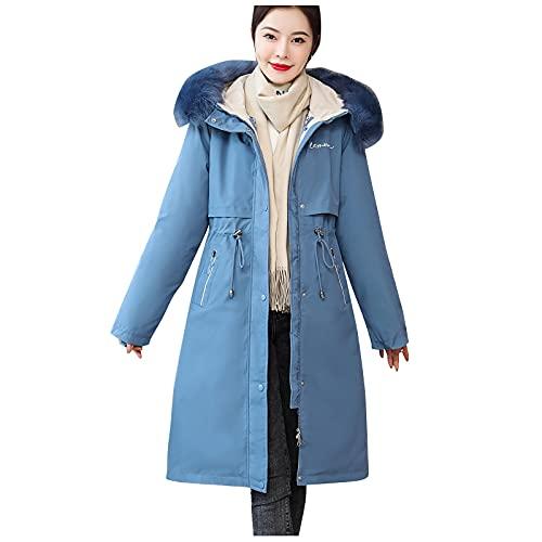 BIBOKAOKE Chaqueta de entretiempo para mujer, chaqueta de invierno larga, parka, chaqueta para mujer, chaqueta de invierno, chaqueta de moda, chaqueta cortavientos, elegante, informal, larga