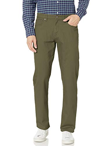Amazon Essentials Relaxed-Fit 5-Pocket Stretch Twill Pant Pantaloni Casual, Olive, 29W / 34L