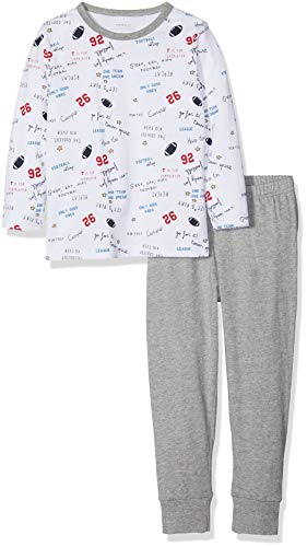 NAME IT Jungen NMMNIGHTSET Mel 1 NOOS Zweiteiliger Schlafanzug, Grau (Grey Melange Grey Melange), 104