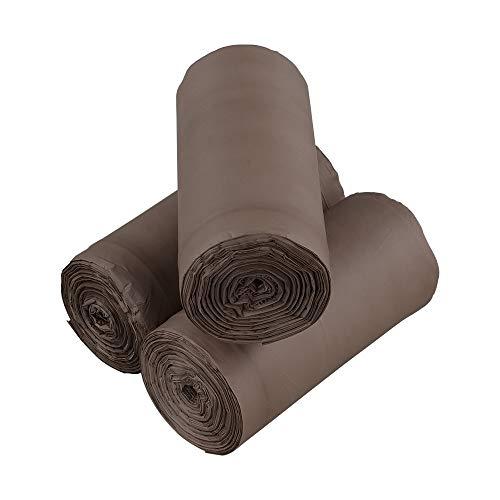 Xowine Bolsas de basura 100% compostables de 15 L, bolsas de residuos de alimentos biodegradables, 105 bolsas de bolsas de basura de compostaje, marrón
