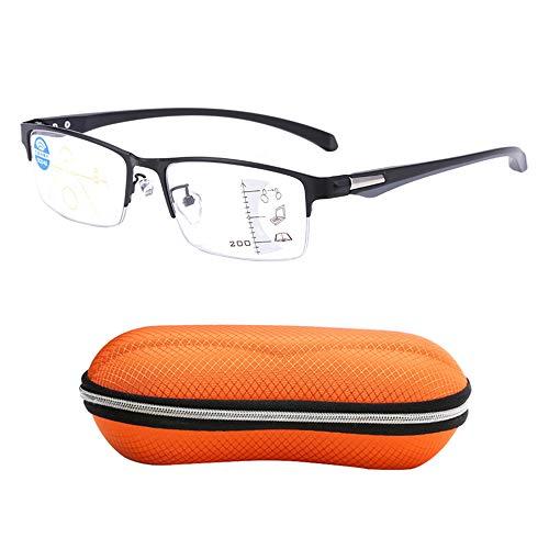 Gafas de lectura inteligentes de enfoque múltiple progresivo, gafas de lectura de alta definición antifatiga anti-azul, gafas de lectura de computadora adecuadas para leer, caminar, ir de compras
