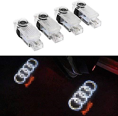 Autotür Logo Licht for Audi, LED Auto Projektor Ghost Shadow licht türbeleuchtung Willkommen Lampe für Audi A8 A7 A6 A5 A4 A3 A1 R8 TT Q7 Q5 Q3 (4pcs)