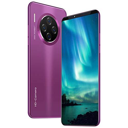 HSKB M33 Pro Smartphone ohne Vertrag Günstig 10 Core 6,1 Zoll Wassertropfen Bildschirm Face Unlock 4500mAh Akku 1600W und 3200W Dual Kamera WiFi GPS 8 GB ROM Dual SIM Android 9,1 (EU) (Lila)