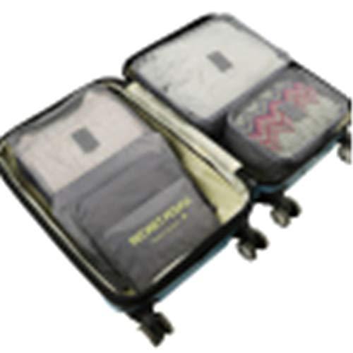 FGFGG Lot de 6 sacs de rangement pour chaussures et chaussettes en maille fine épaississante pour voyage (coffre non inclus).