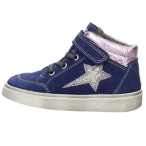 Richter Kinderschuhe Flora 3756-8111 Sneaker, 6821nauti/viole/silv/egg, 28 EU