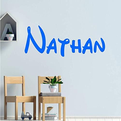 Stickers personnalisé prénom disney. Décoration mur chambre enfant/bébé. 14 couleurs au choix.