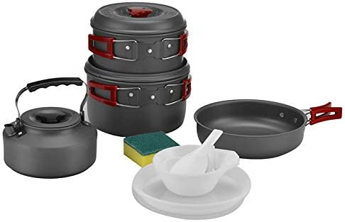Bulin 13 3 Pcs Camping Cookware Mess Kit Nonstick Backpacking Cooking Set Outdoor Cook Gear product image