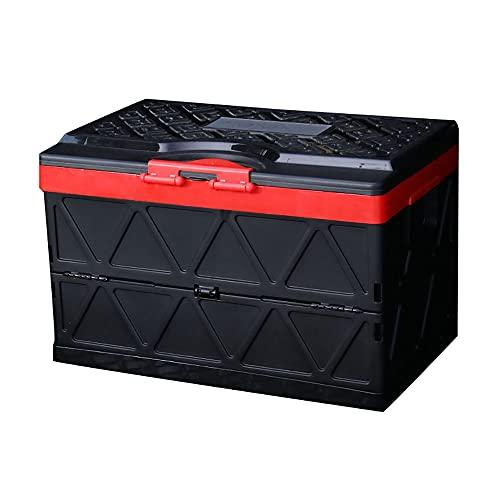 Caja De Almacenamiento Plegable con Tapa, 200 Kg De Capacidad De Carga, 48 ML De Gran Capacidad, Puede Almacenar Juguetes De Recuerdo (Anillo Rojo Negro Diamante)