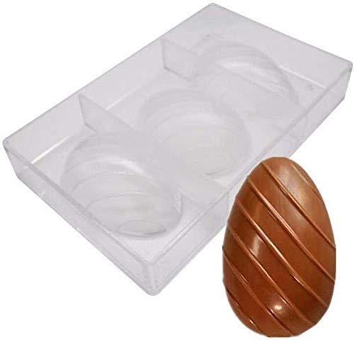 Teglie per muffin e cupcake Stampi per cake pop Stampi per pasticcini e biscotti 3 fori Uovo di Pasqua Stampo per cioccolato in policarbonato Trasparente Diamante Stampo per uova Fai da te Fatto a ma