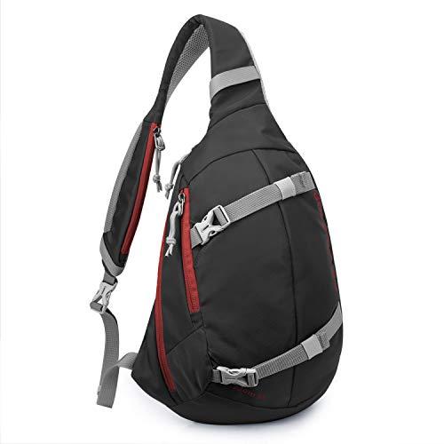 Mardingtop Sac Poitrine Sac d'Epaule militaire Tactical Molle Sacoche sac bandoulière pour la randonnée Trekking Camping voyage multi-usages (Noir-6281)
