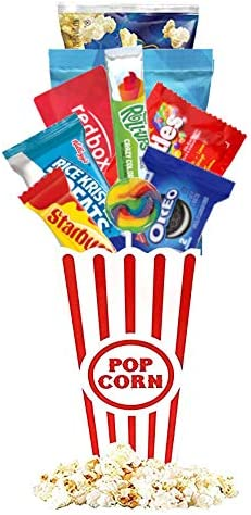 Redbox Movie Night Gift Baskets with Popcorn Candy and Redbox Gift Card Movie Rental for College product image