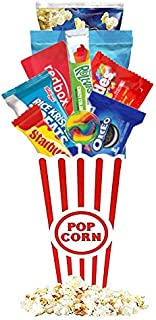 Redbox Movie Night Gift Baskets with Popcorn, Candy and Redbox Gift Card Movie Rental for College Students, Teens, Men, Ki...