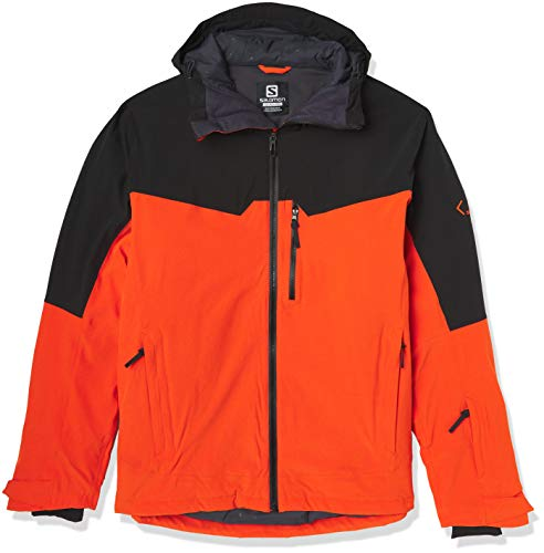 Salomon Herren Ski-Jacke, UNTRACKED JKT M, Polyester/Elasthan/Polyamid, Orange (Red Orange), Größe: M, LC1402600