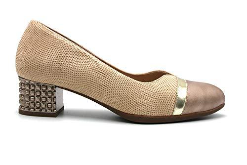 DOCTOR CUTILLAS - Zapato de tacón Ancho y bajo, Suela de Goma,...