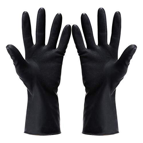 Hair Dye Gloves,Professional Hair Coloring Accessories for Hair Salon Hair Dyeing,2pcs(1 left+1 right),black
