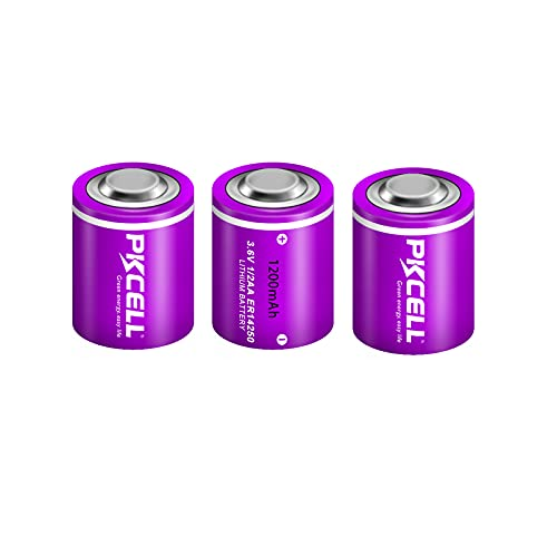1/2AA Size ER14250 Non-Rechargeable 3.6V 1200mah Lithium Batteries for Dog Collars (3 Pack)