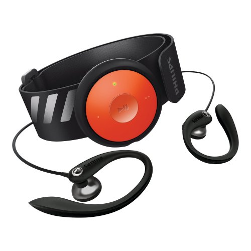 Philips GoGEAR FitDot 4GB MP3 Player - Black/Orange (Discontinued by Manufacturer)