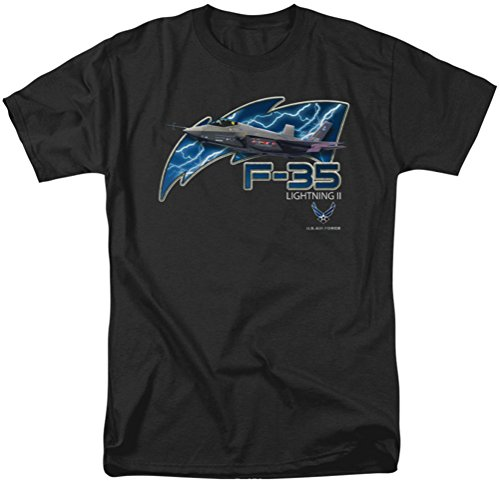 Air Force - - T-shirt de F35 pour hommes, Large, Black