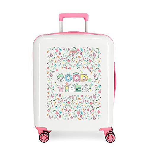 Movom Good Vibes Valise de cabine blanche 40 x 55 x 20...