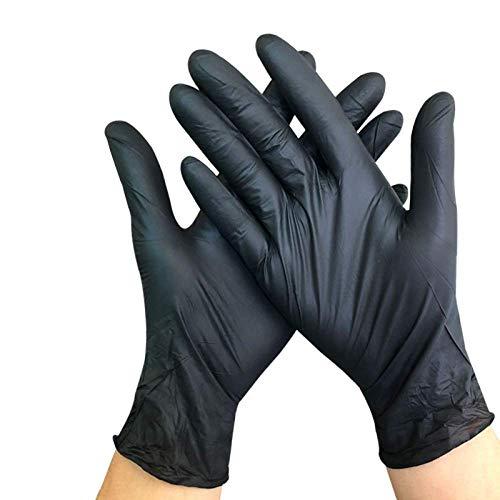 Disposable Black Nitrile Glove Oil-Resistant Acid And Alkali Resistant Tattoo Manicure Hair Dressing Labor Safety Industrial Garage Gloves 100 Pcs