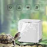 Vansuky AC220~240V Filtro de bajo Nivel de Agua para Tortuga (1.5cm), Bomba de Agua Limpia para Tortuga y Tanque de Reptiles (Enchufe de la UE)