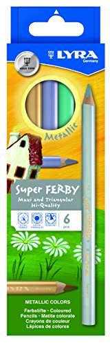 LYRA 3721062 Super Ferby Metallic Kartonetui mit 6 Farbstiften, farbig sortiert
