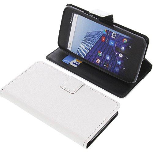 foto-kontor Tasche für Archos Access 50 4G Book Style weiß Schutz Hülle Buch