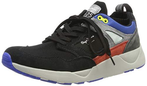 Pepe Jeans London Herren ORBITAL M-25 PRO Sneaker, Schwarz (Black 999), 45 EU