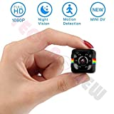 TECHNOVIEW Spy Camera Mini HD Wireless Hidden | 1080P Smallest Body Action Camera, 12 MP, Convert Security Nanny Cam with Night Vision and Motion Detection for Home,Car,Office,Room Indoor and Outdoor
