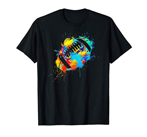40YARDS American Football Farbklecks bunt Splash Design T-Shirt