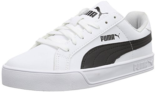 Puma Puma Smash Vulc, Low-Top Sneaker Unisex – adulto, Bianco (Weiß (white-black 05)), 40.5 EU (7 UK)