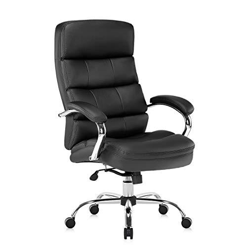 Yamasoro Chaise de bureau ergonomique et réglable avec dossier et accoudoirs - pour bureau et maison