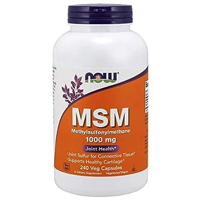 Now Foods | MSM | Methylsulfonylmethan | 1000 mg | 240 vegane Kapseln | glutenfrei | sojafrei