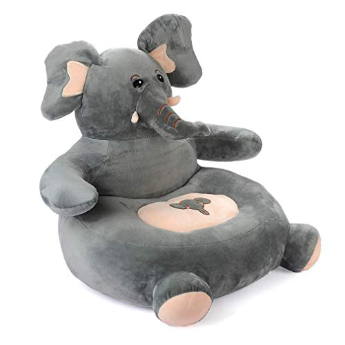 Plush-Elephant-Chair-for-Toddler-infants Bean-Bag-Cute-Sofa-Baby-Soft-Recliner-Lounge-Sweet-Seats-Chairs for toddlers Tv Chair Girls Small Kids Couch Comfy Stuffed Animal Furniture Couches