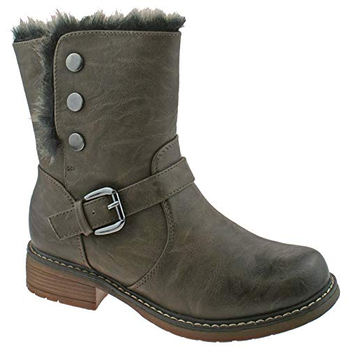 GIRLS CATS EYES ZIP UP ANKLE BOOTS SIZE UK 10 - 3 LINED BLACK BROWN G830 KD-Brown-UK 13 (EU 32)