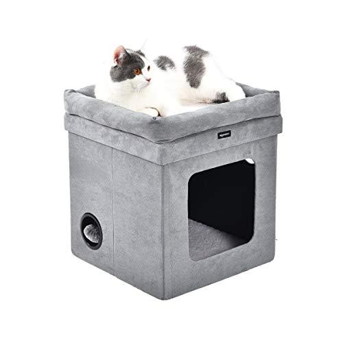 Amazon Basics - Casa para gato plegable, Gris