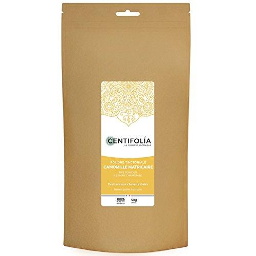 CENTIFOLIA - Poudre Tinctoriale à la Camomille - Ravive les cheveux dorés - Apaise les irritations du cuir chevelu - 100% Pure - 50 gr