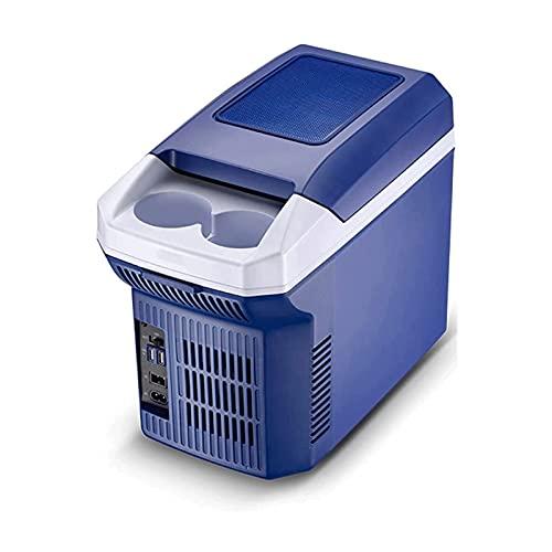 SHUHANG Refrigerador de Coche 8L 12V / 220V Coche y hogar Dual Dual Mini Caja pequeña incubadora Diseño Horizontal (Color : Blue, Size : 19.5X30X39cm)