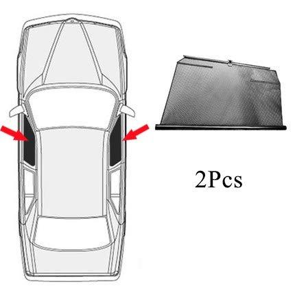 NO LOGO Auto Spezielle Seitenscheibe Automatische Hebesonnenschutz Sonnenschutz Isolierung Teleskop fit for Mercedes-Benz E-Klasse fit for W124 W210 W211 W212 (Farbe : 2 Front Windows)